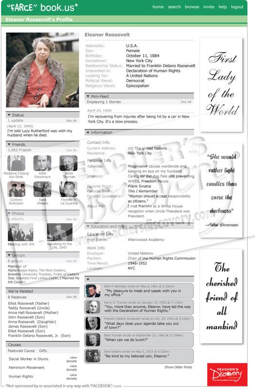 Eleanor roosevelt farce book poster farcebook u s for Farcical webster