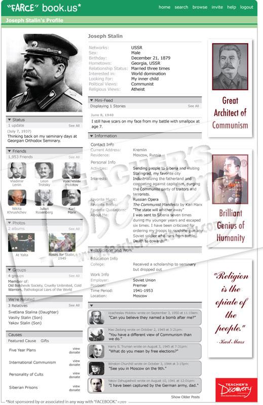 "Joseph Stalin WWII ""Farce"" book Poster"