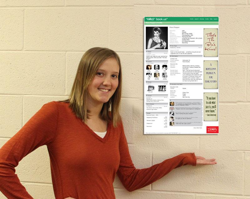 Flora flapper farce book poster social studies teacher 39 s for Farcical webster