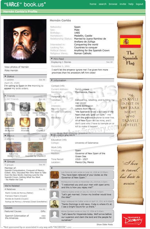 "Hernan Cortes ""Farce"" book Poster"