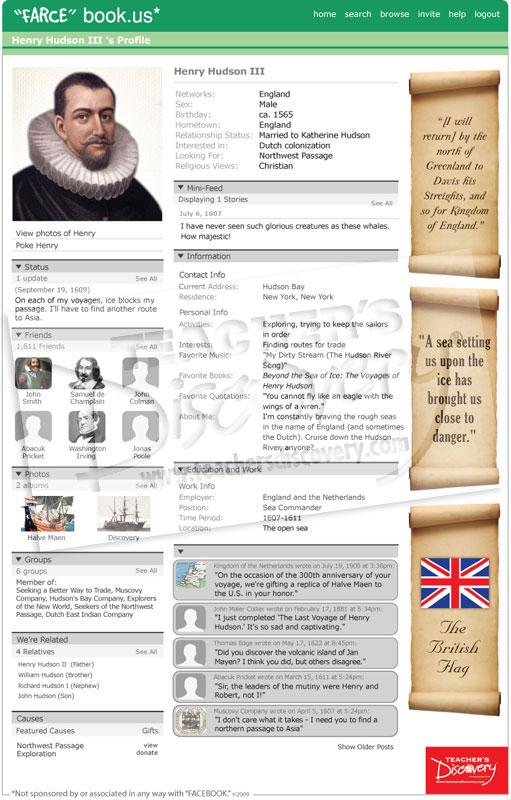 Henry hudson farce book poster social studies teacher 39 s for Farcical webster
