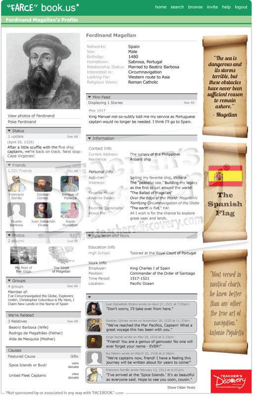 Ferdinand magellan farce book poster world history for Farcical books