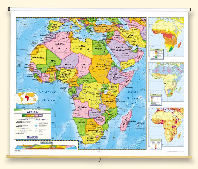 Africa Political Roller Map
