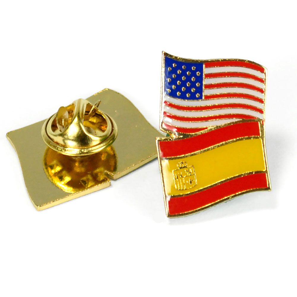 Spain/USA Flag Pin