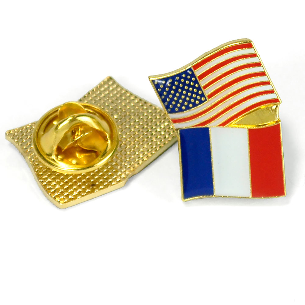 France/USA Flag Enhanced™ Pin