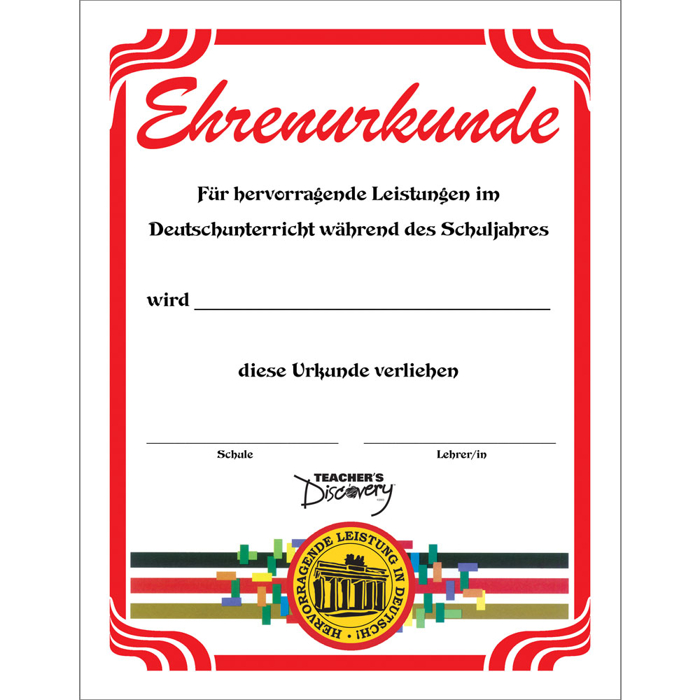 German Formal Certificates