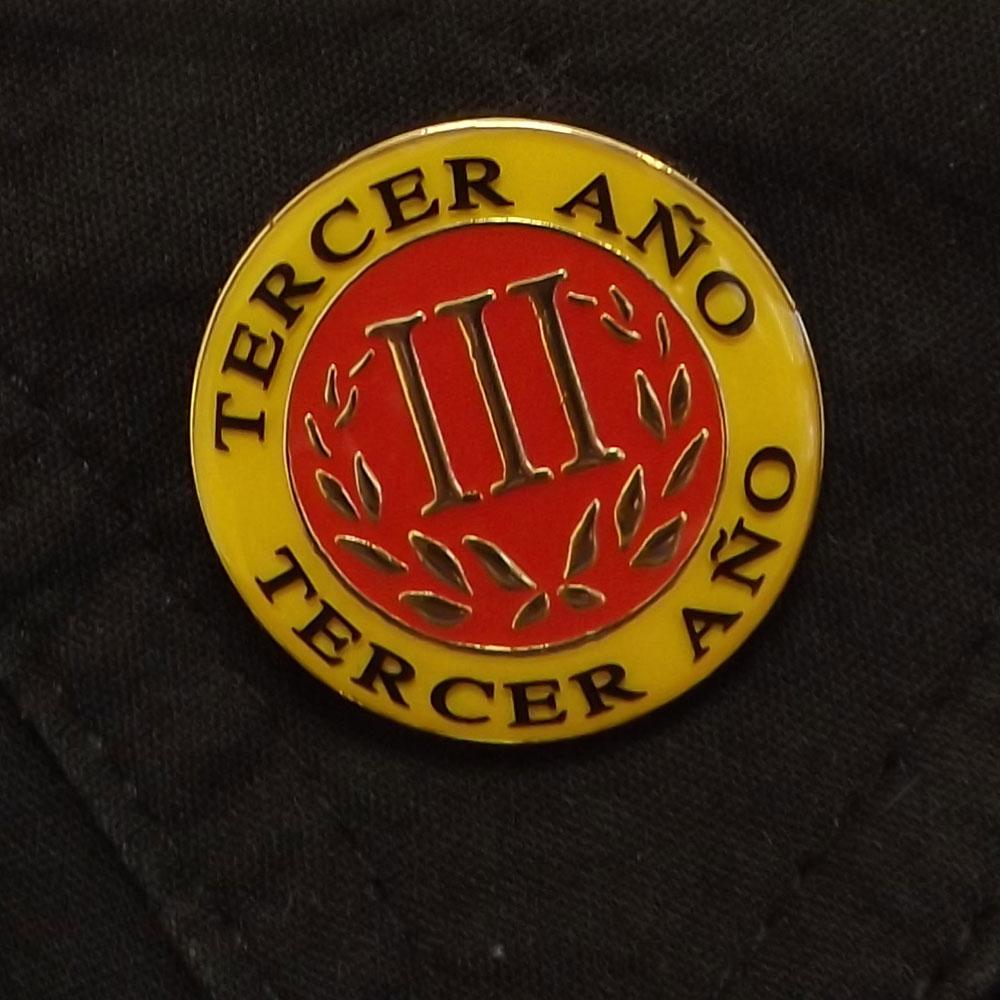 Spanish Third-Year Pin