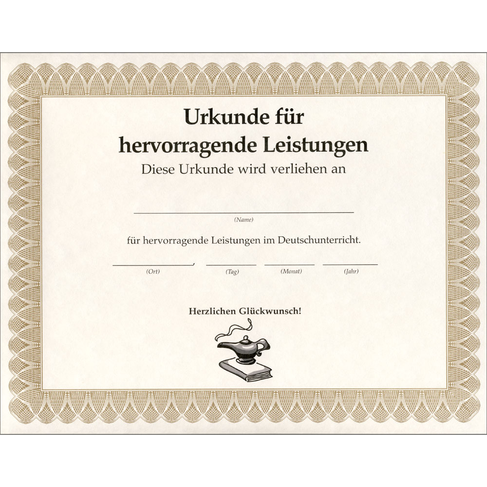 German Certificate of Achievement