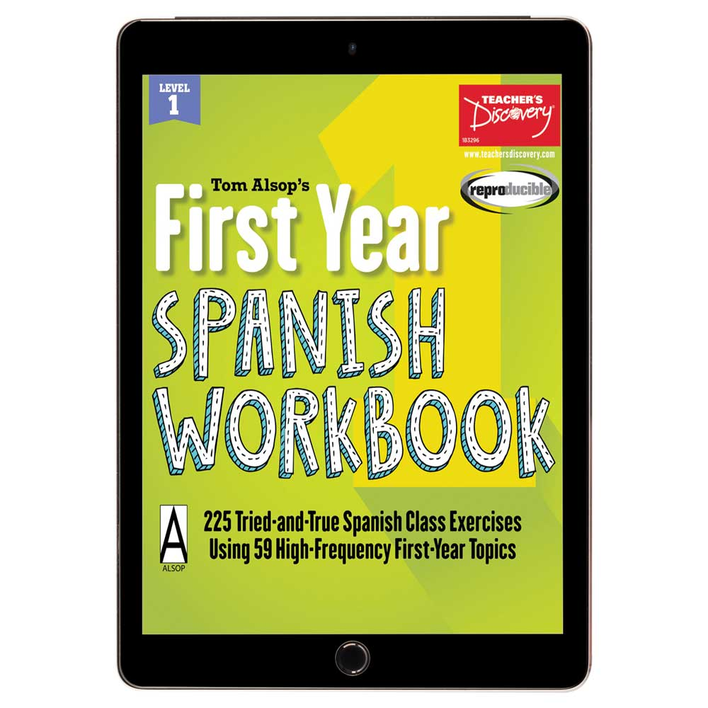 Tom Alsop's First Year Spanish Workbook Reproducible Book