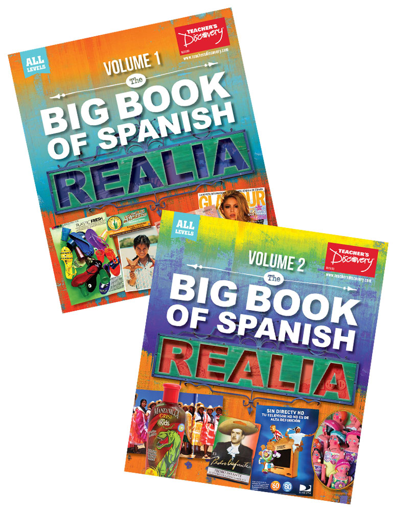 The Big Book of Spanish Realia Volume I & Volume II Books
