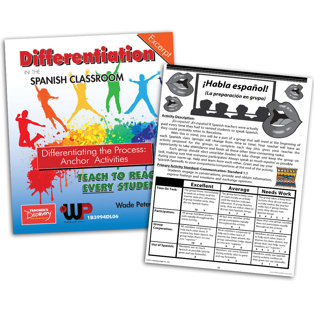 Differentiating the Process: Anchor Activities - Book Excerpt Download