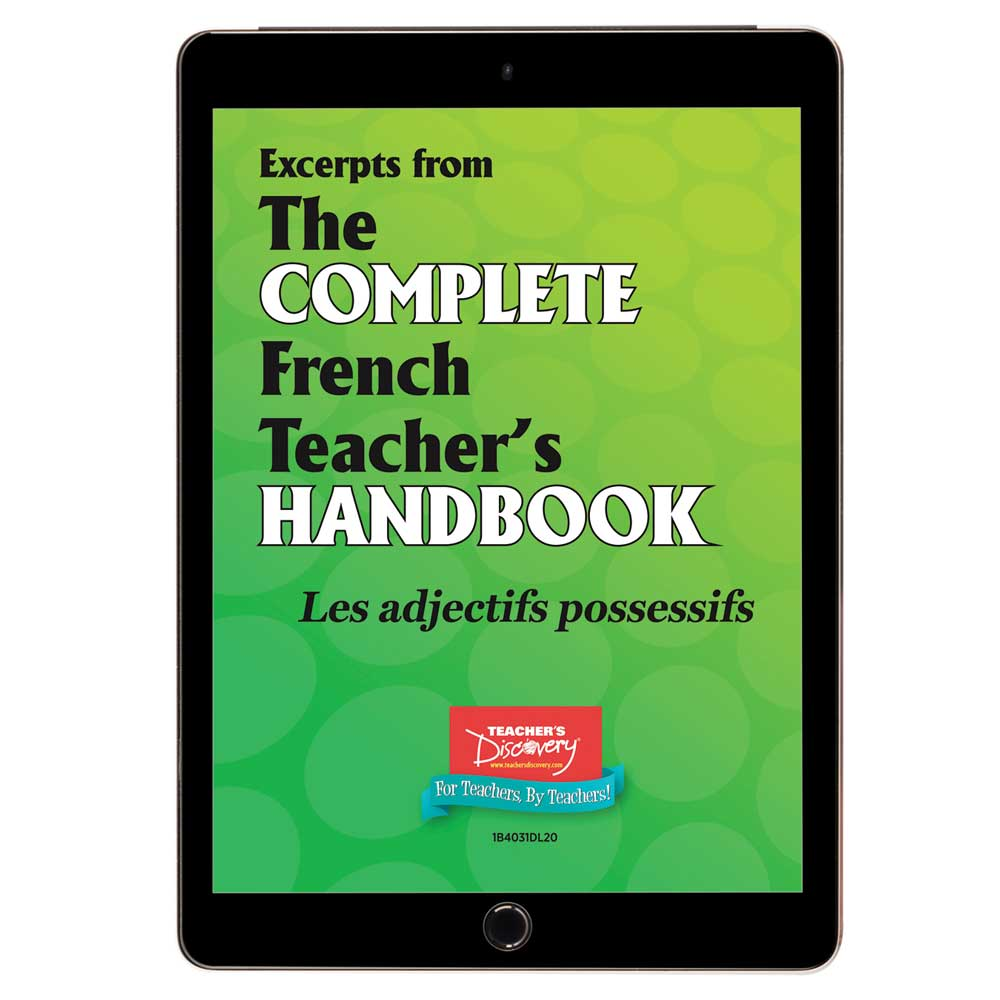 Les adjectifs possessifs - French - Book Excerpt Download