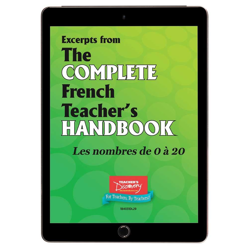 Les nombres de  0 à 20 - French - Book Excerpt Download