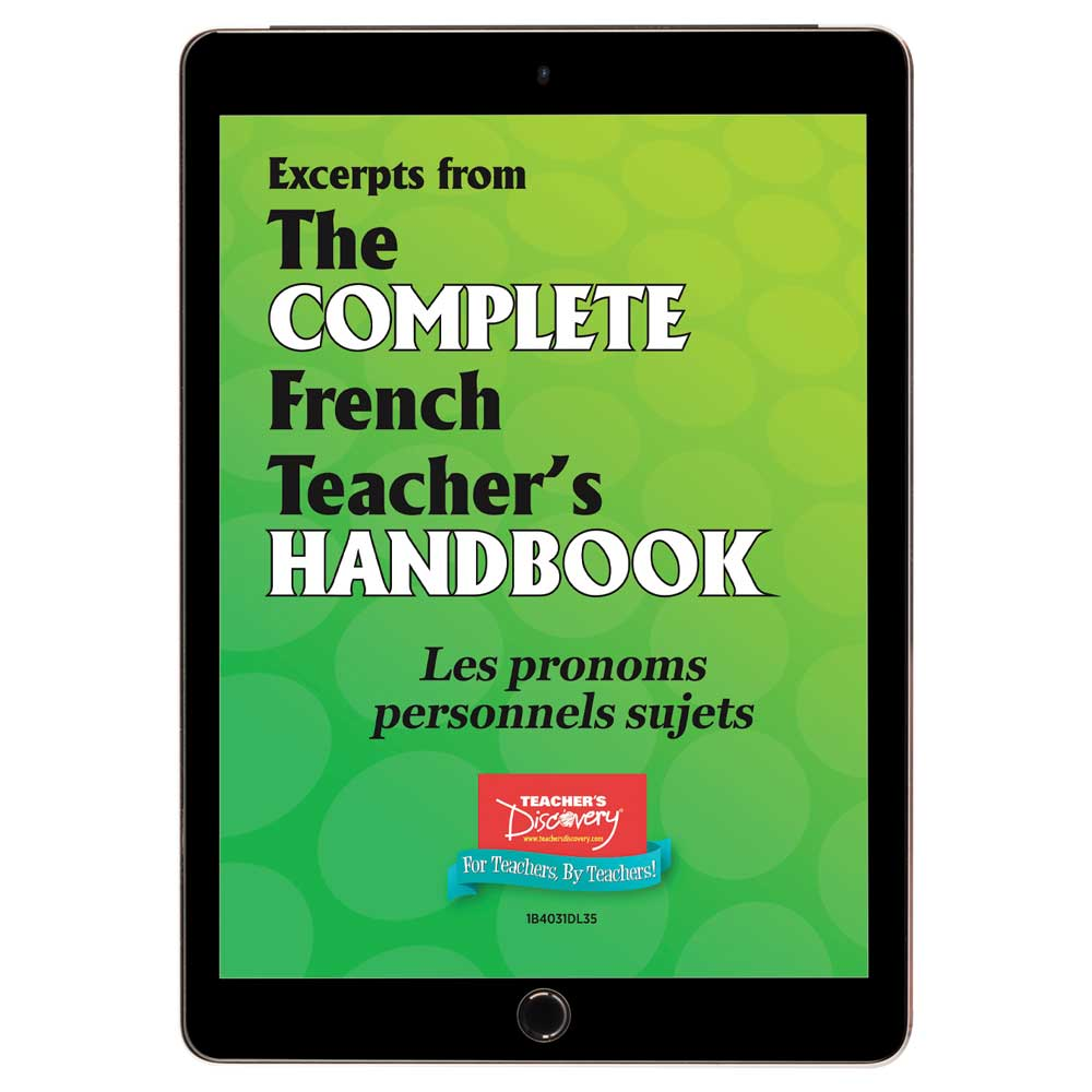 Les pronoms personnels sujets - French - Book Excerpt Download