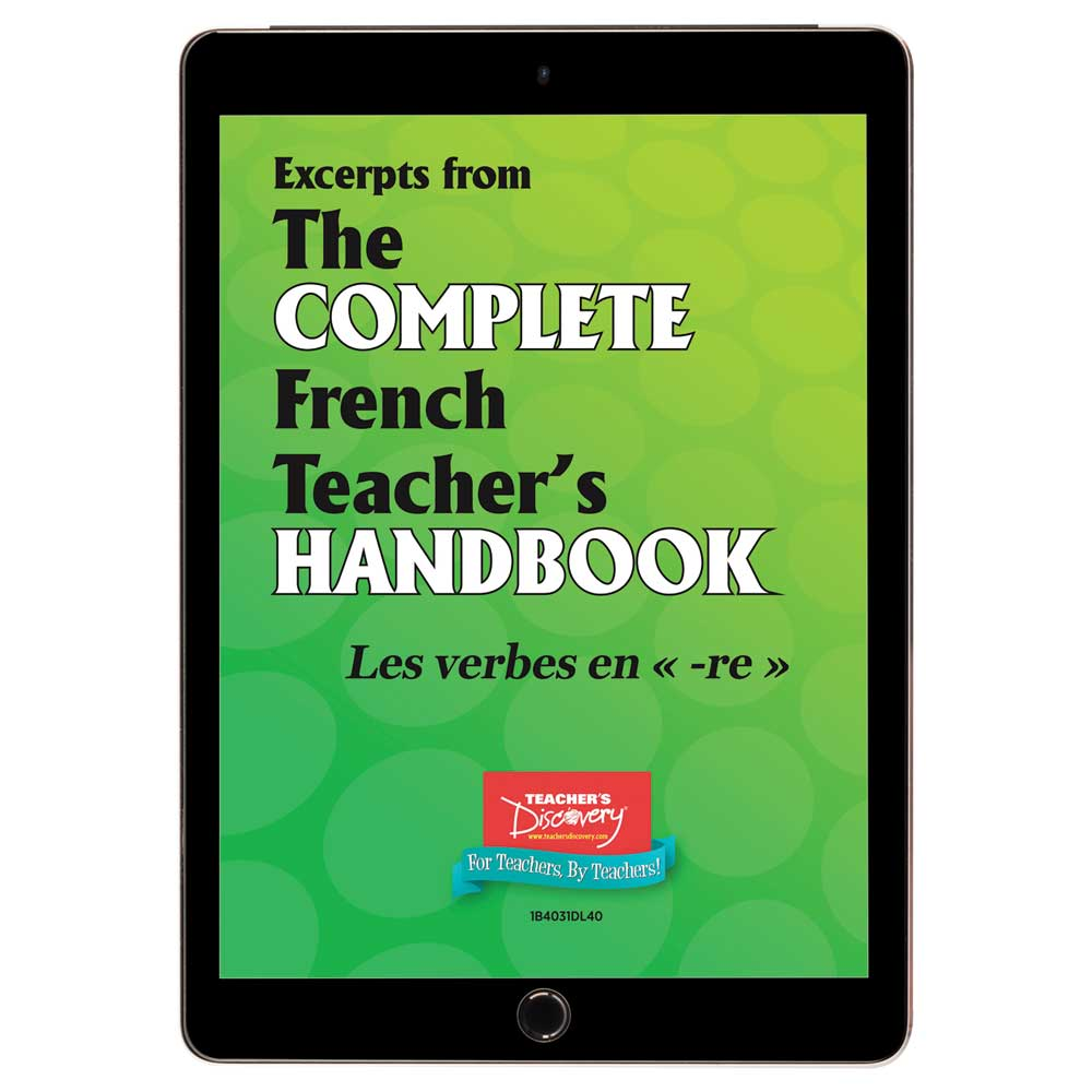 Les verbes en -re - French - Book Excerpt Download