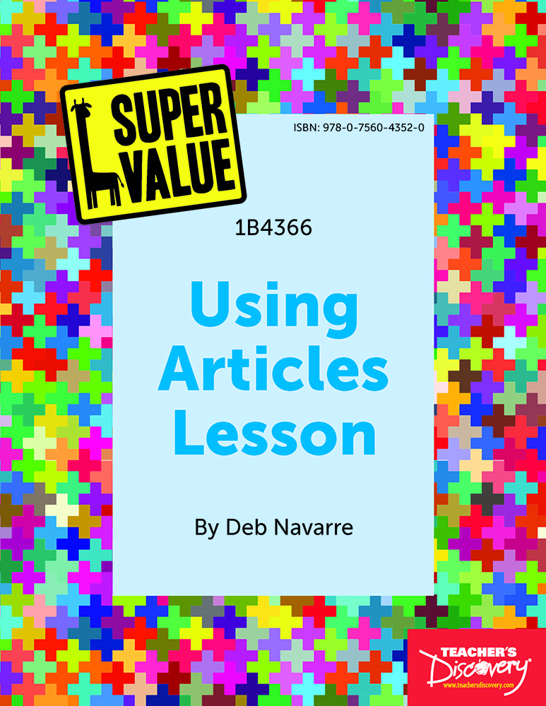 Super Value Using Articles Lesson Spanish