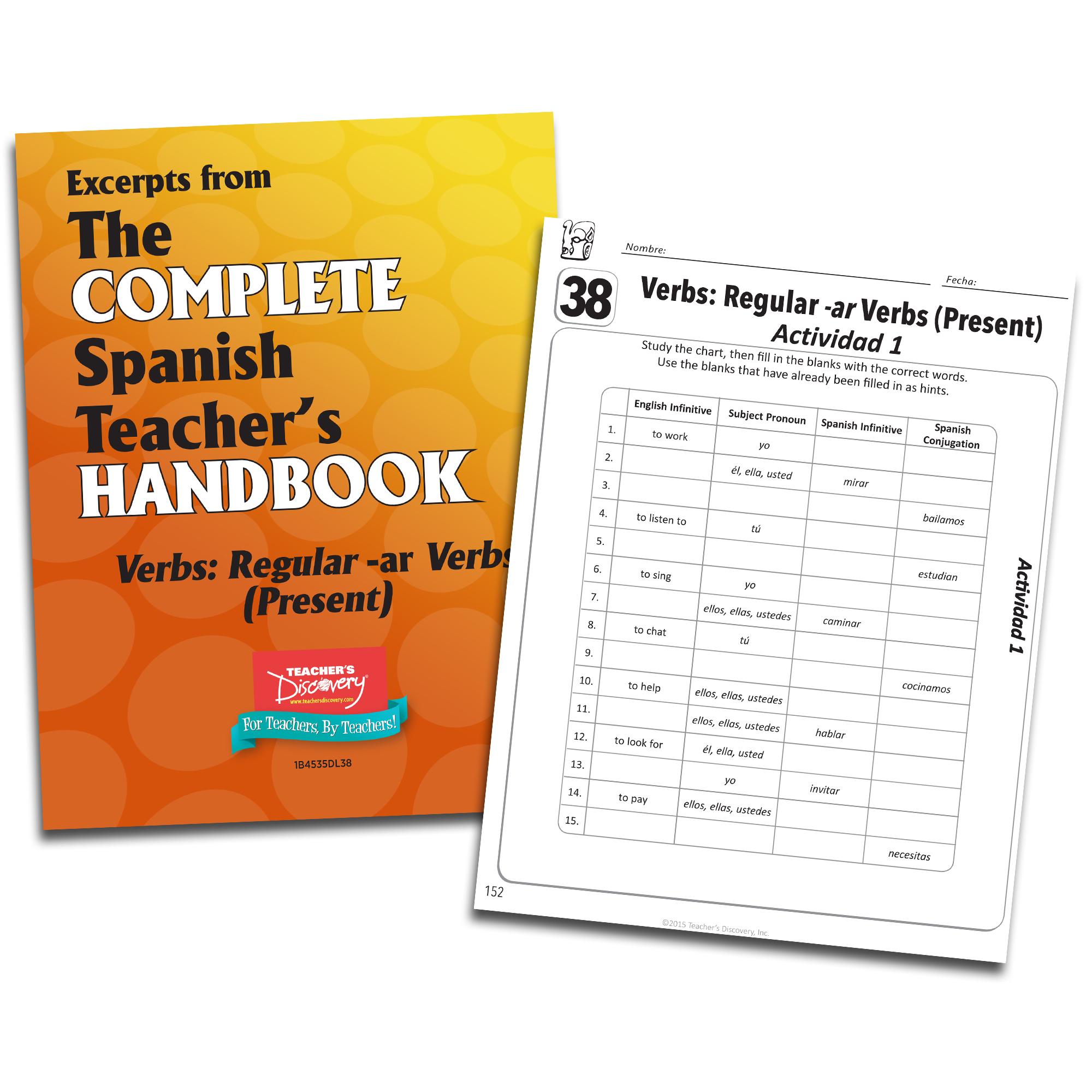 Verbs: Regular -ar Verbs (Present) - Spanish - Book Excerpt Download