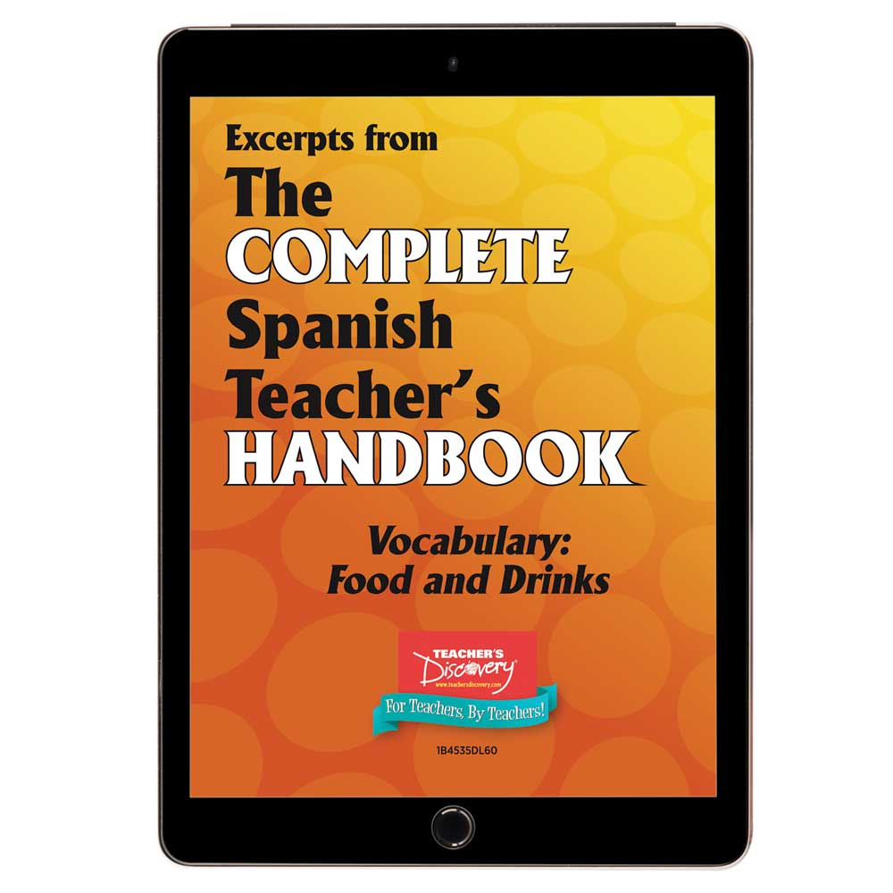 Vocabulary: Food and Drinks - Spanish - Book Excerpt Download