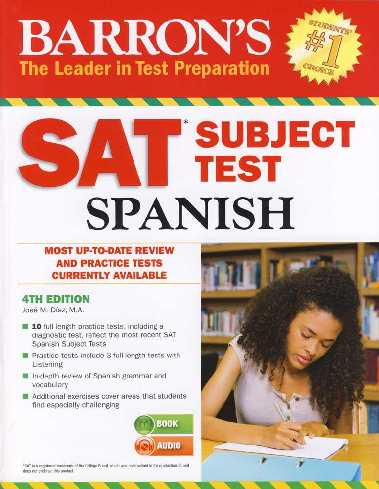 Barron's SAT Subject Test Spanish Book
