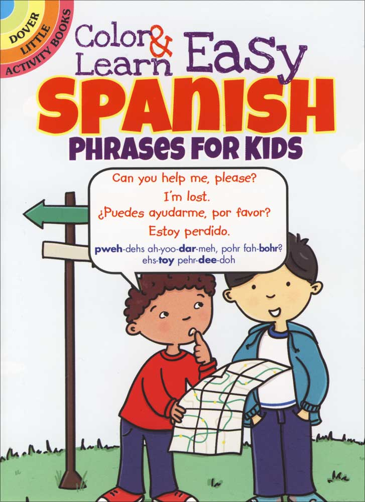Color and Learn Easy Spanish Phrases for Kids Coloring Book, Spanish ...