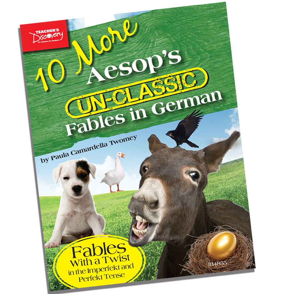 10 More Aesop's Un-Classic Fables in German Past Tense Book