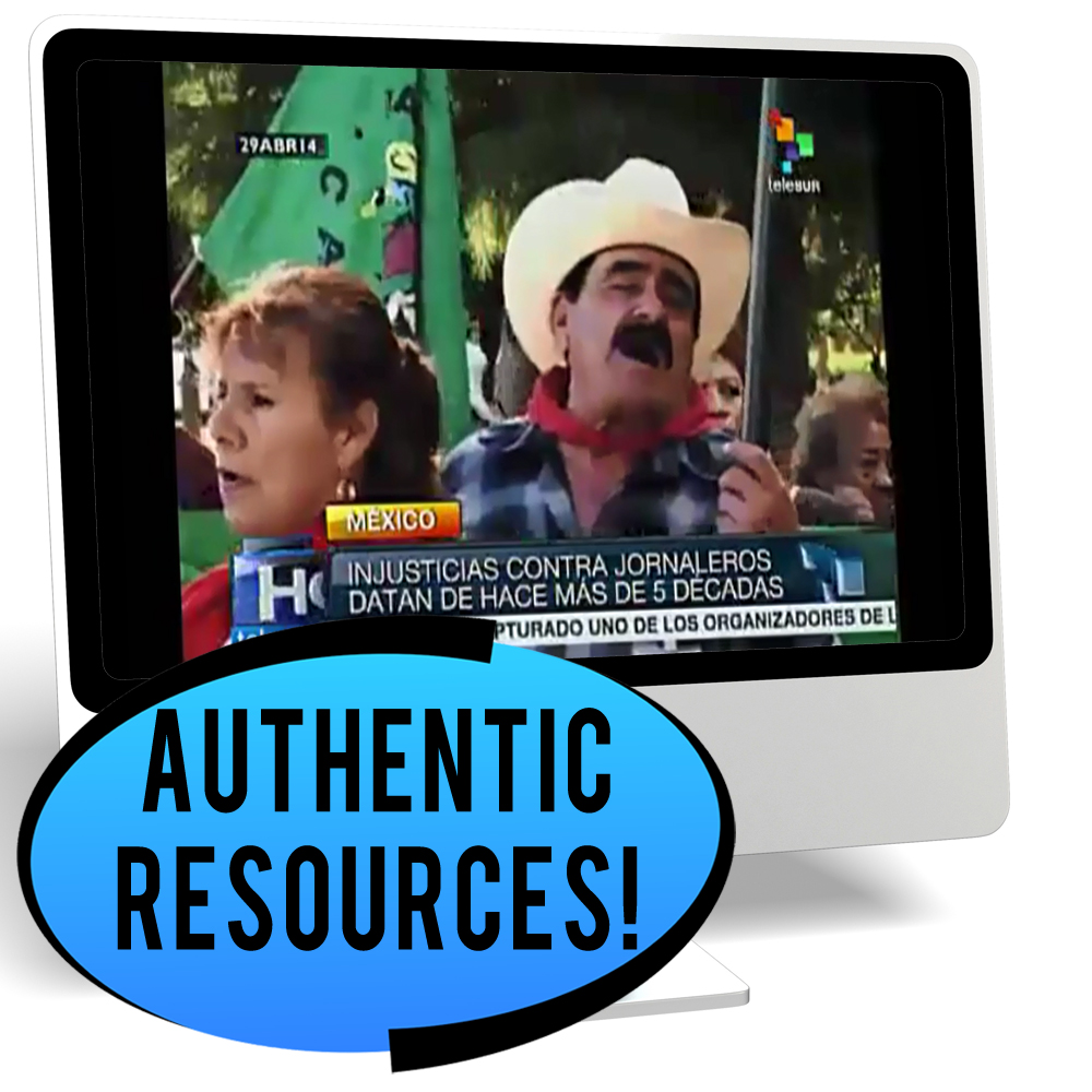 Cesar Chavez Intermediate-High Spanish IPA Pack - HYBRID LEARNING DOWNLOAD  - Hybrid Learning Resource