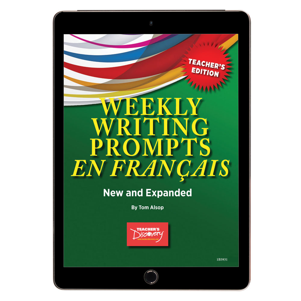 Weekly Writing Prompts en français Level 1 Book - Weekly Writing Prompts en français Level 1 Print Book