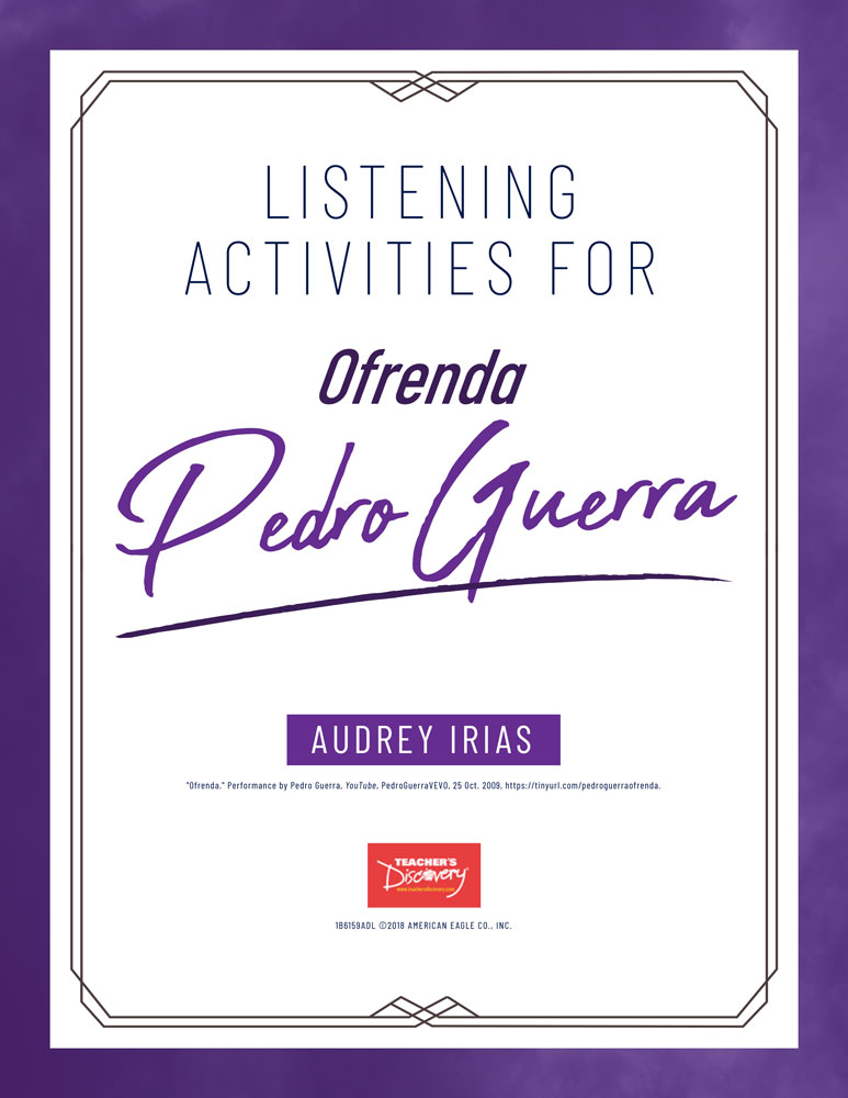 Día de los Muertos Song (Pedro Guerra) Listening Activities Download