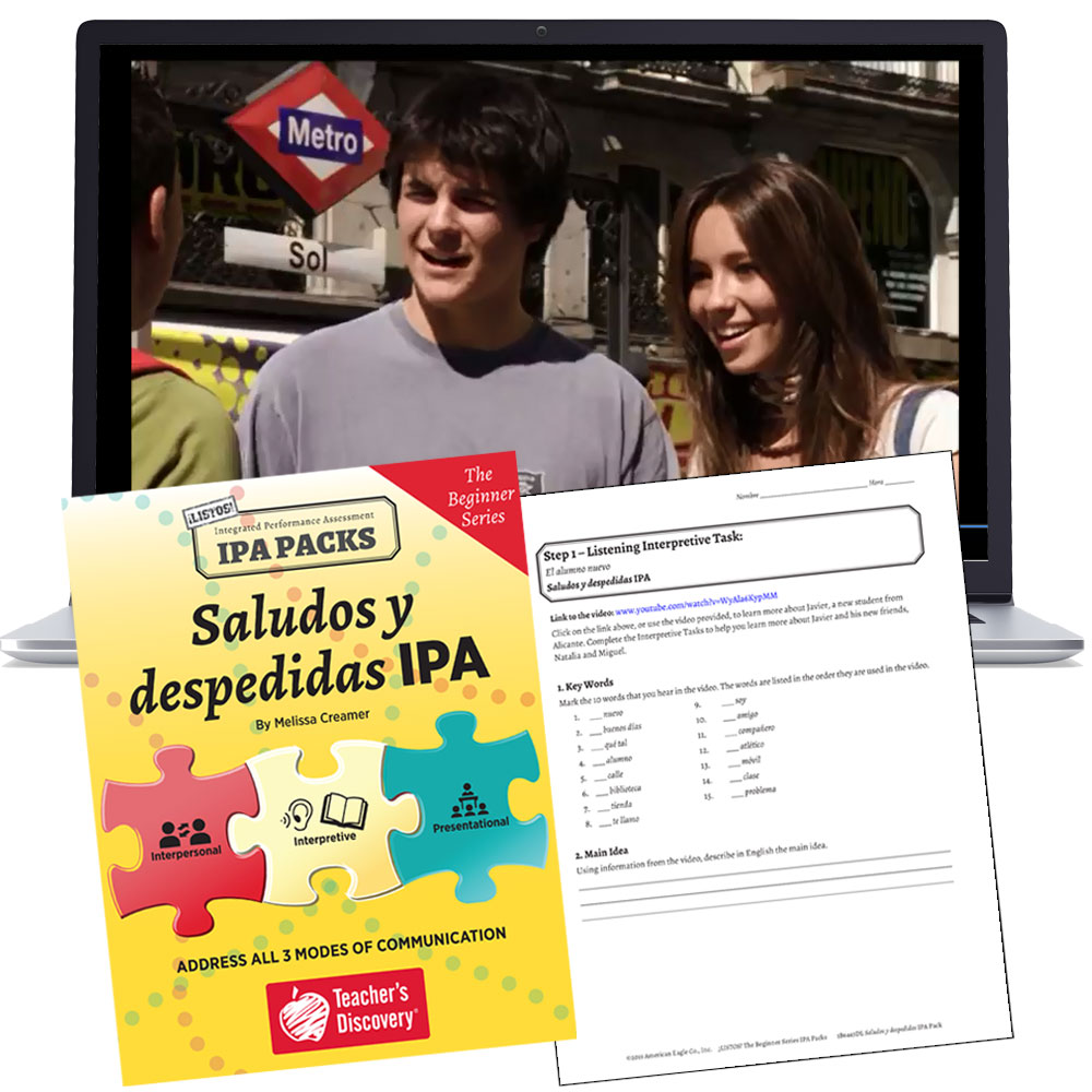 Saludos y despedidas: The Beginner Series Spanish IPA Pack - HYBRID LEARNING DOWNLOAD   - Hybrid Learning Resource