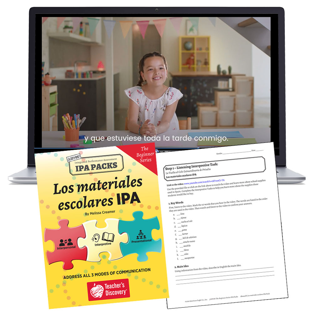 Los materiales escolares: The Beginner Series Spanish IPA Pack - DIGITAL RESOURCE DOWNLOAD  - Hybrid Learning Resource
