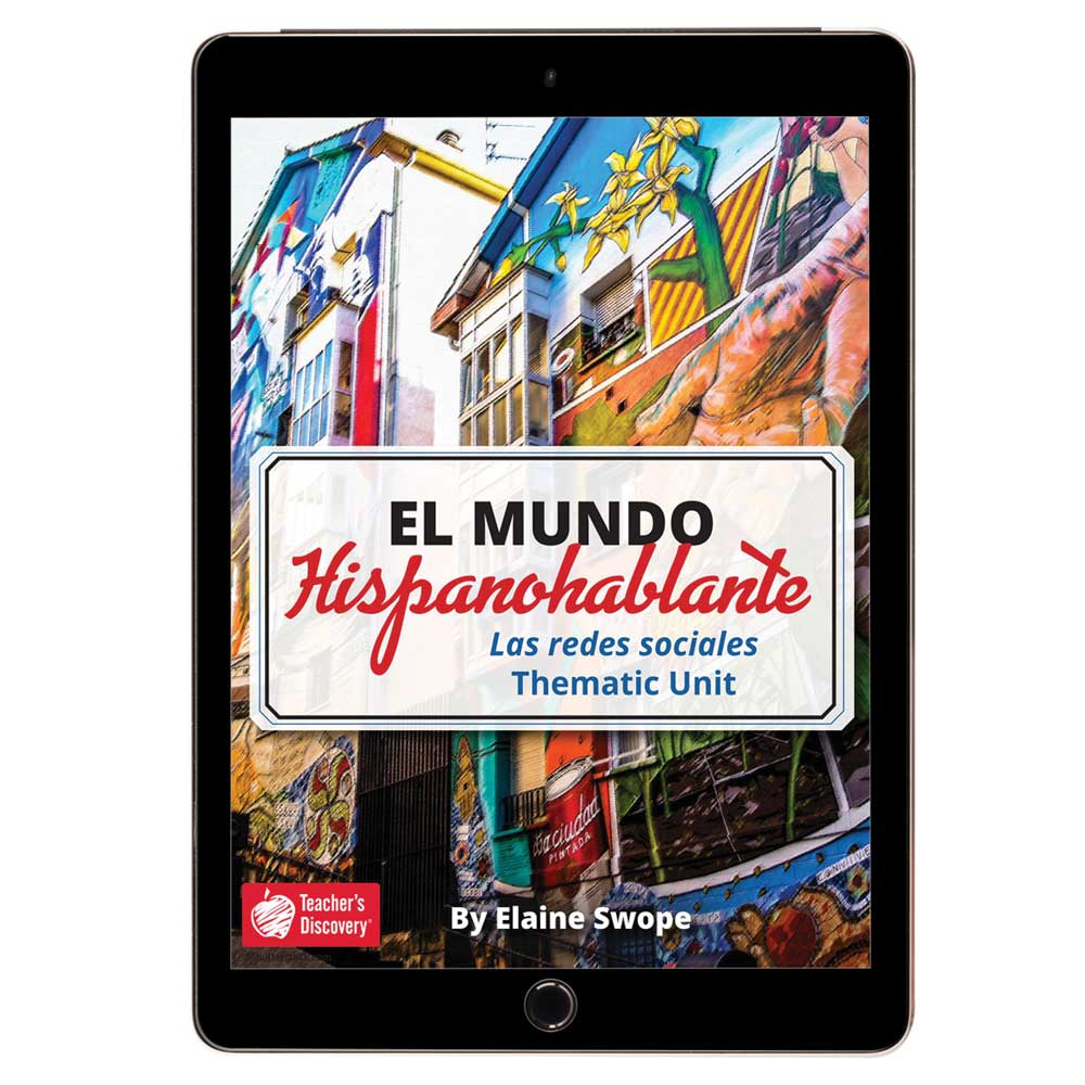 El mundo hispanohablante: Las redes sociales Spanish Thematic Unit - DIGITAL RESOURCE DOWNLOAD  - Hybrid Learning Resource
