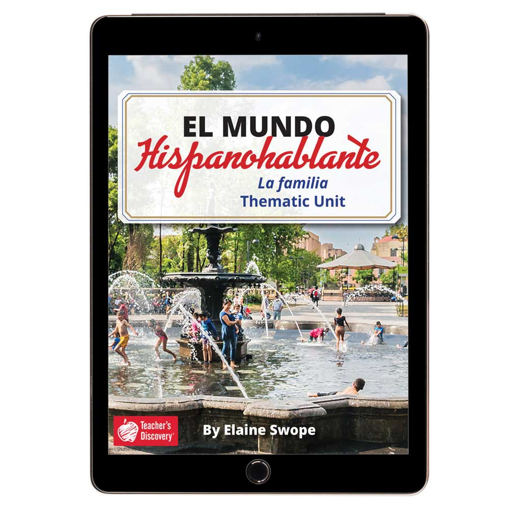 El mundo hispanohablante: La familia Spanish Thematic Unit - DIGITAL RESOURCE DOWNLOAD