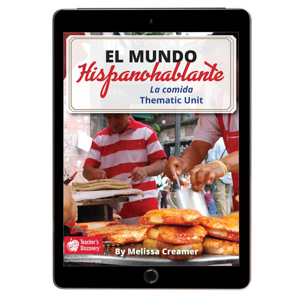 El mundo hispanohablante: La comida Spanish Thematic Unit - DIGITAL RESOURCE DOWNLOAD