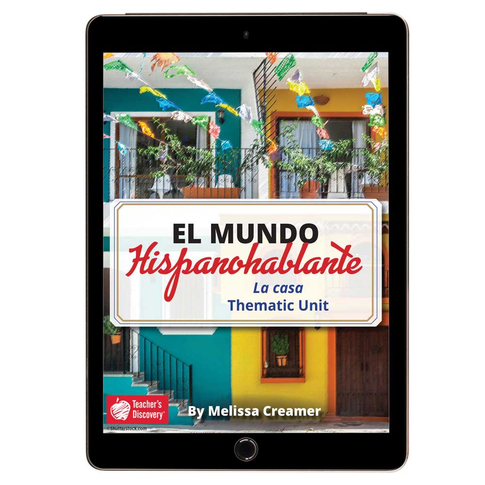 El mundo hispanohablante: La casa Spanish Thematic Unit - DIGITAL RESOURCE DOWNLOAD  - Hybrid Learning Resource
