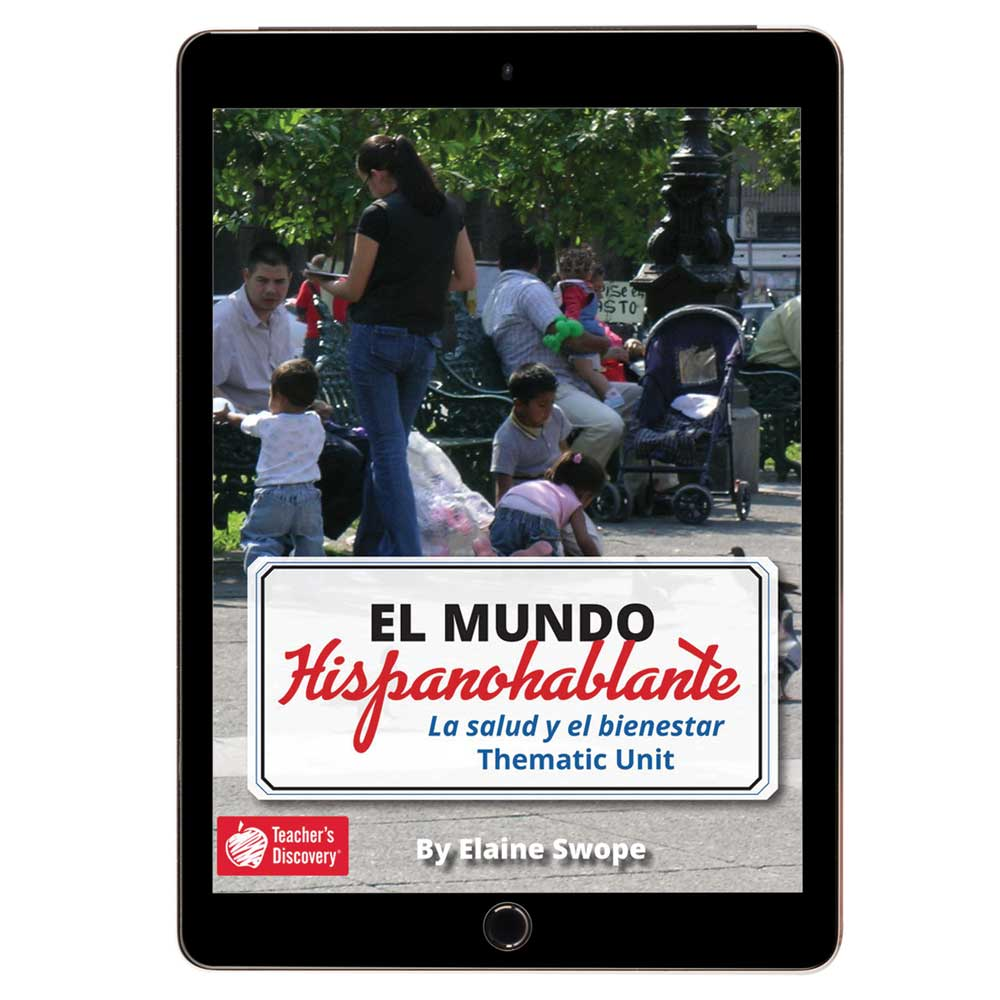 El mundo hispanohablante: La salud y el bienestar Spanish Thematic Unit - DIGITAL RESOURCE DOWNLOAD  - Hybrid Learning Resource
