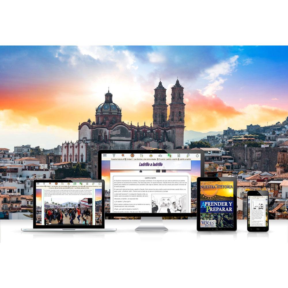 Voces® Nuestra historia: Aprender y preparar Digital Resource Subscription