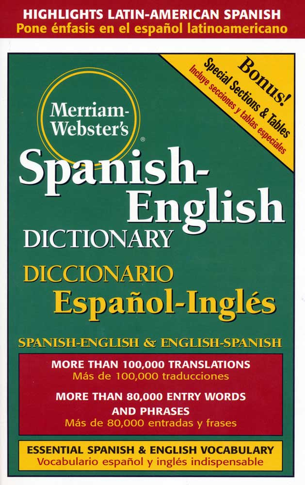 Merriam Webster's Spanish/English 5 x 8 Dictionary