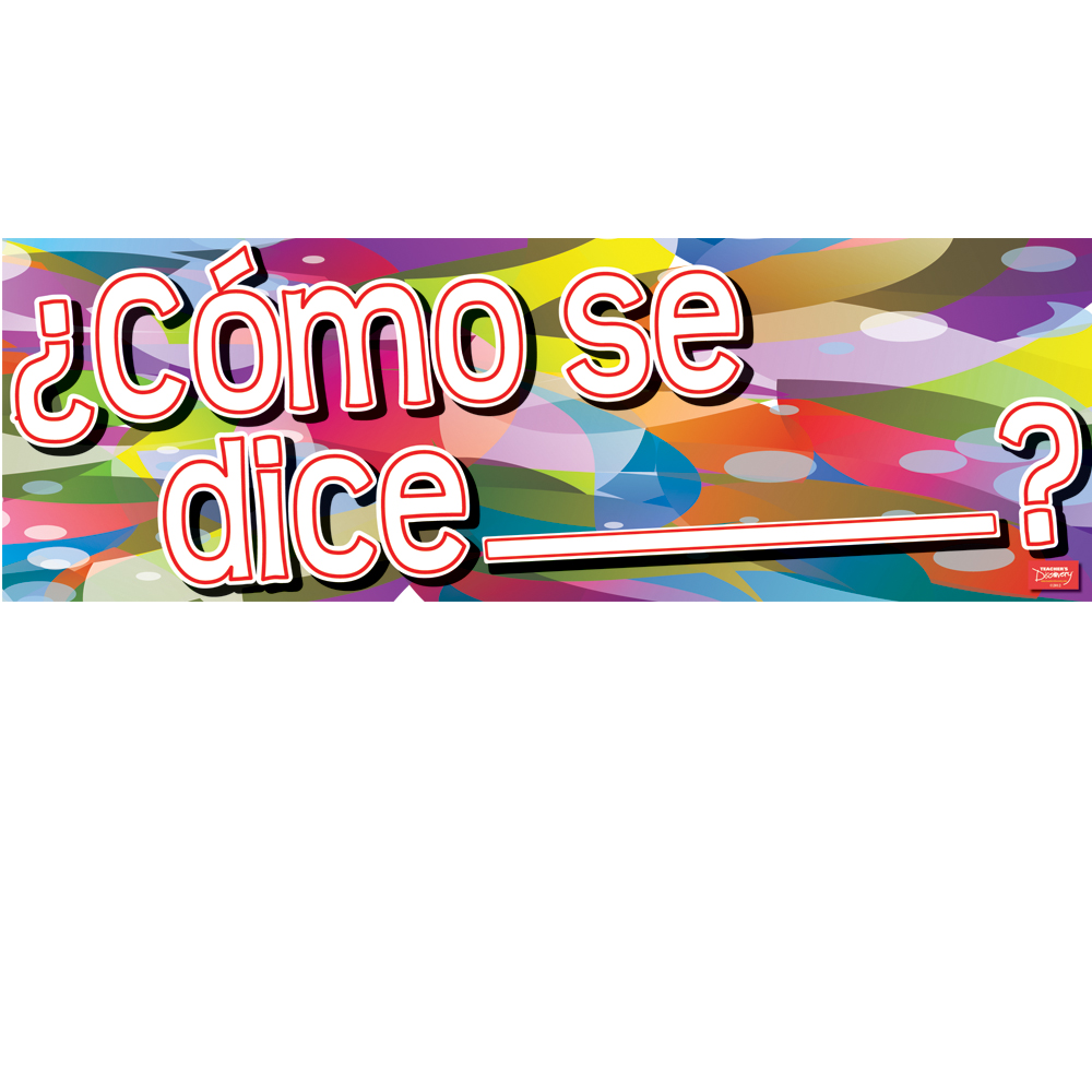 ¿Cómo de dice___? / How do you Say___? Spanish Banner