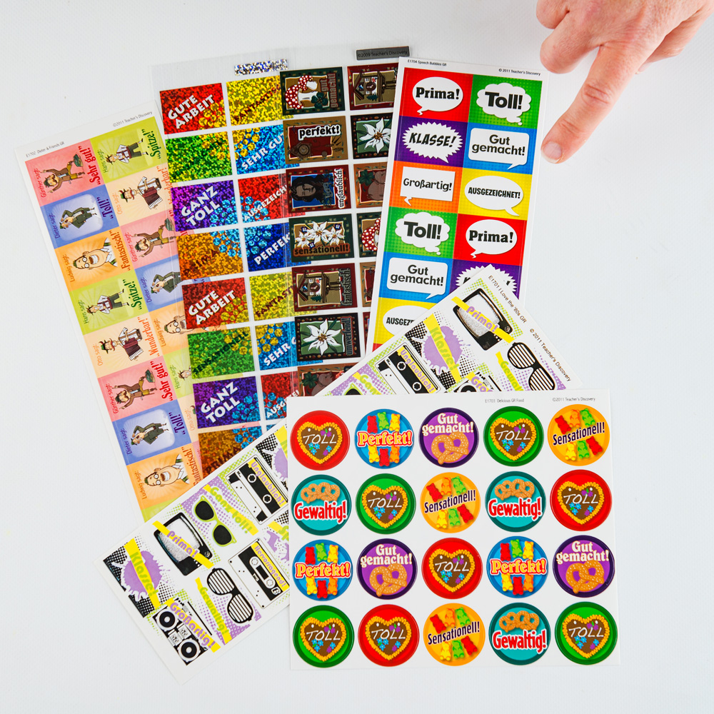 Sampler German Sticker Pack (420)