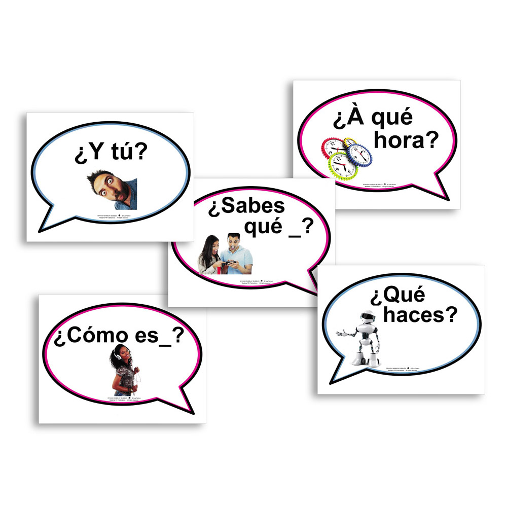 Spanish Babblin' Bubbles Set 4 Question Cues