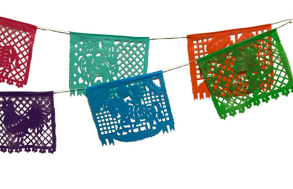 Plástico picado fiesta mexicana Garland