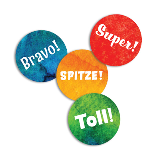 Ombre Dot German Stickers