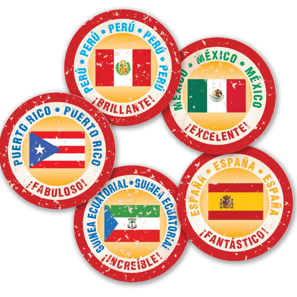 Passport Stamp Spanish Stickers
