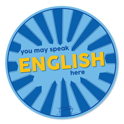 Speak English Here Floor Sticker