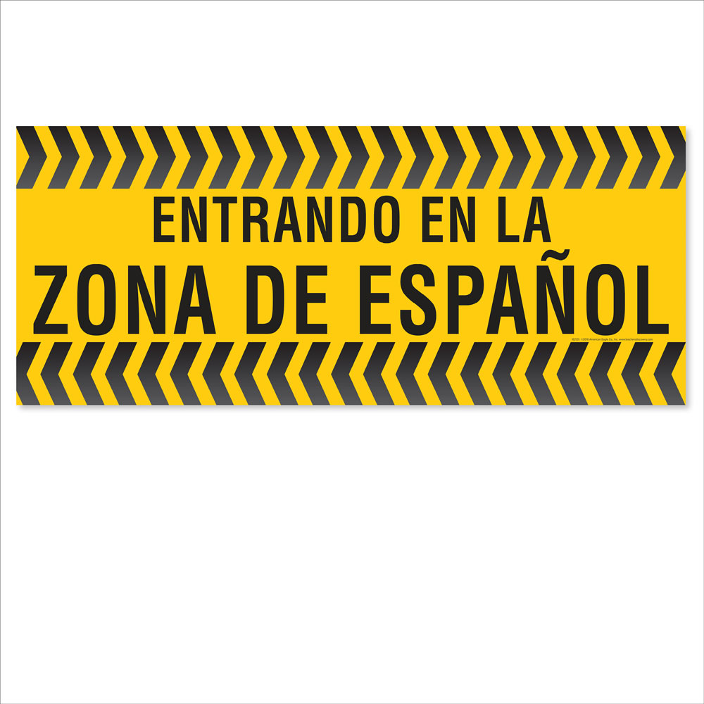 Entering the Spanish Zone Floor Sticker