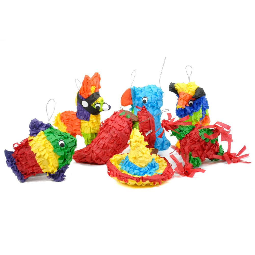 Mini-Piñatas - Set of 7
