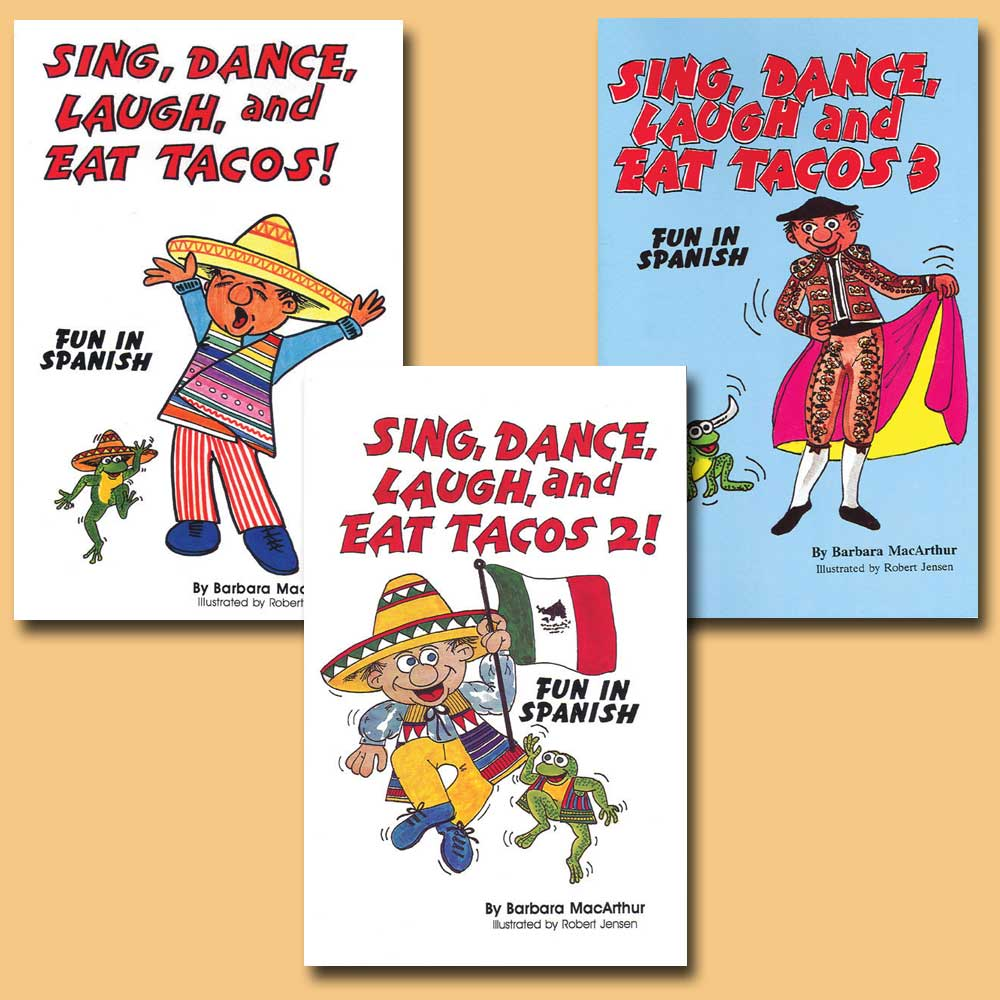 Sing, Dance, Laugh and Eat Tacos Set of 3 Lyric Books