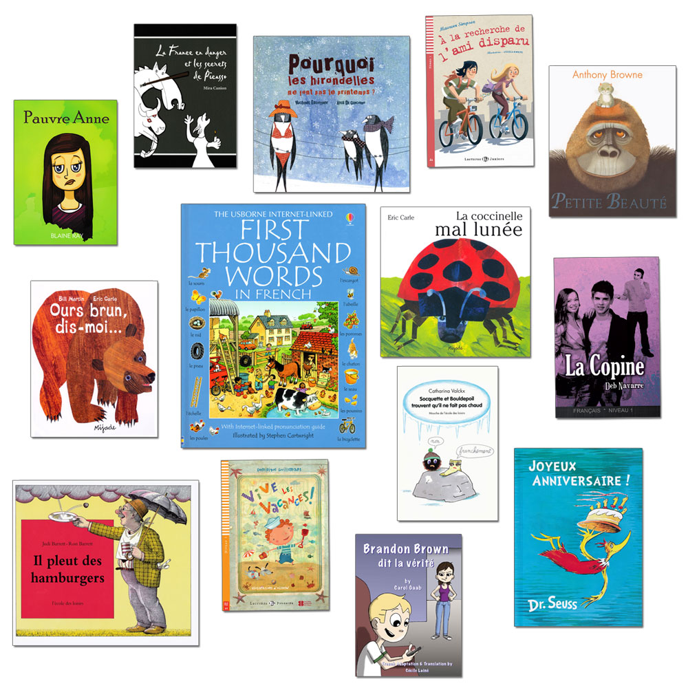 French Starter Library Set of 14 Story Books