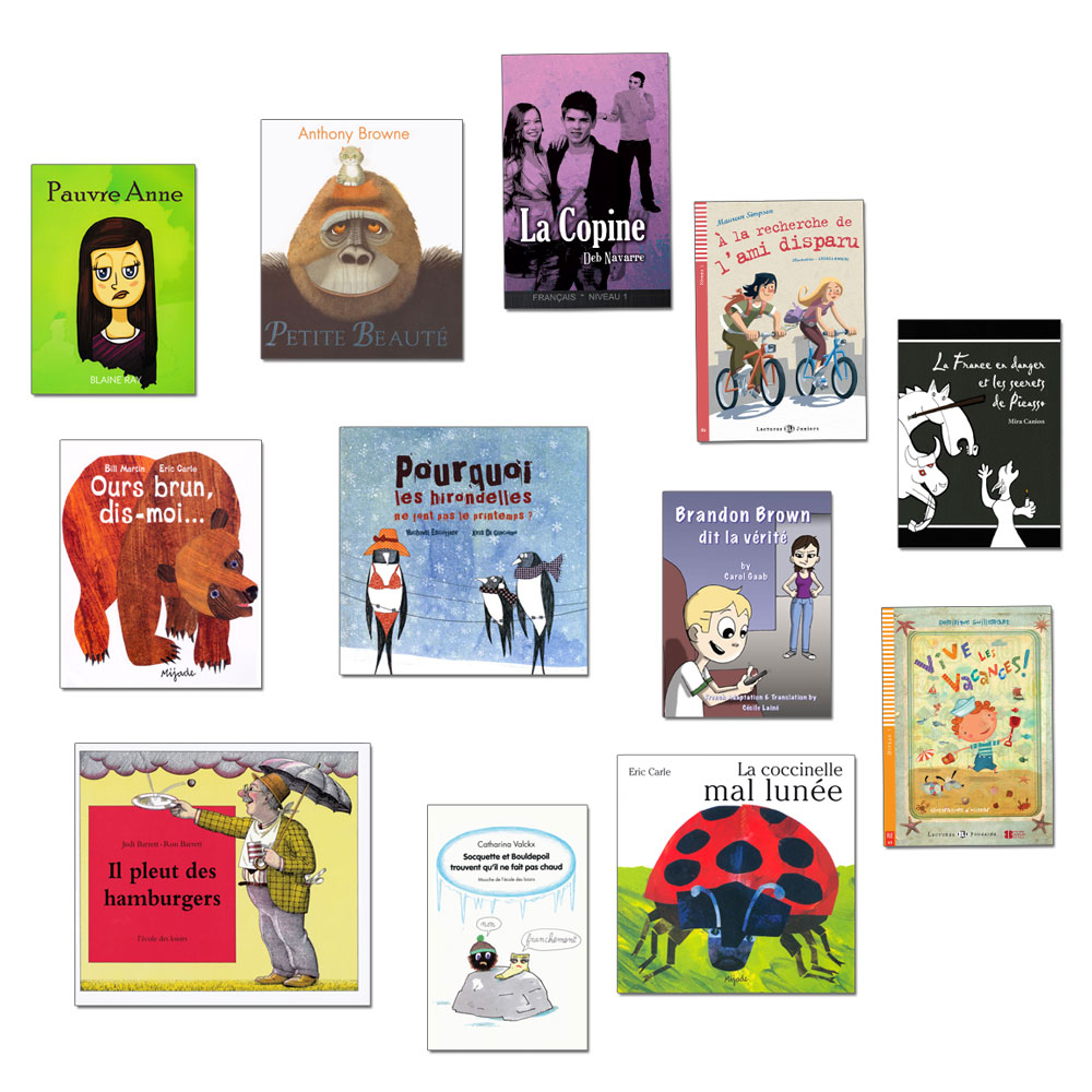 French Starter Library Set of 12 Story Books