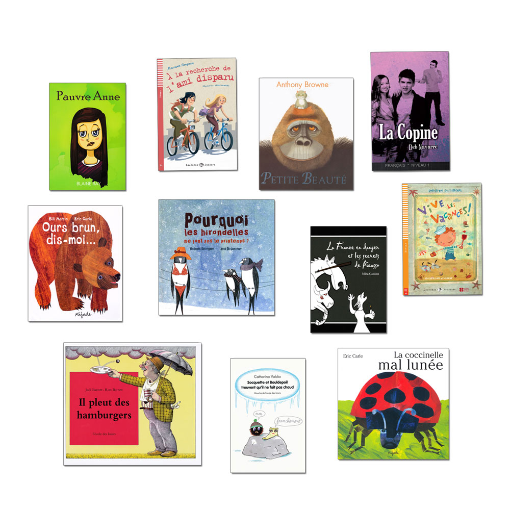 French Starter Library Set of 11 Story Books